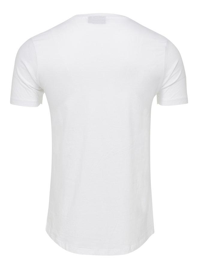T-shirt long fit basic wit
