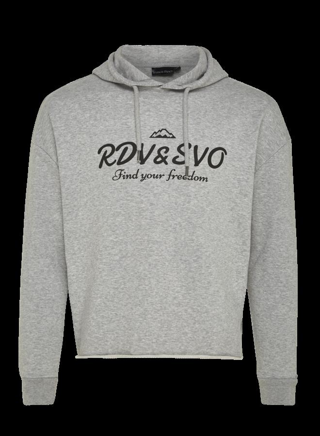 Cropped hoodie grijs
