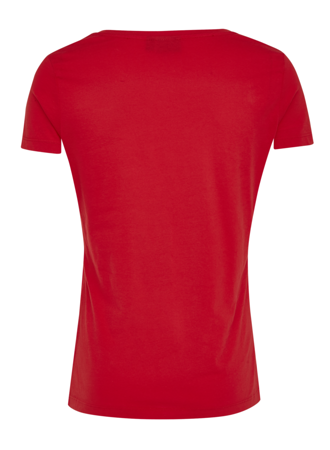 T-shirt casual fit basic rood
