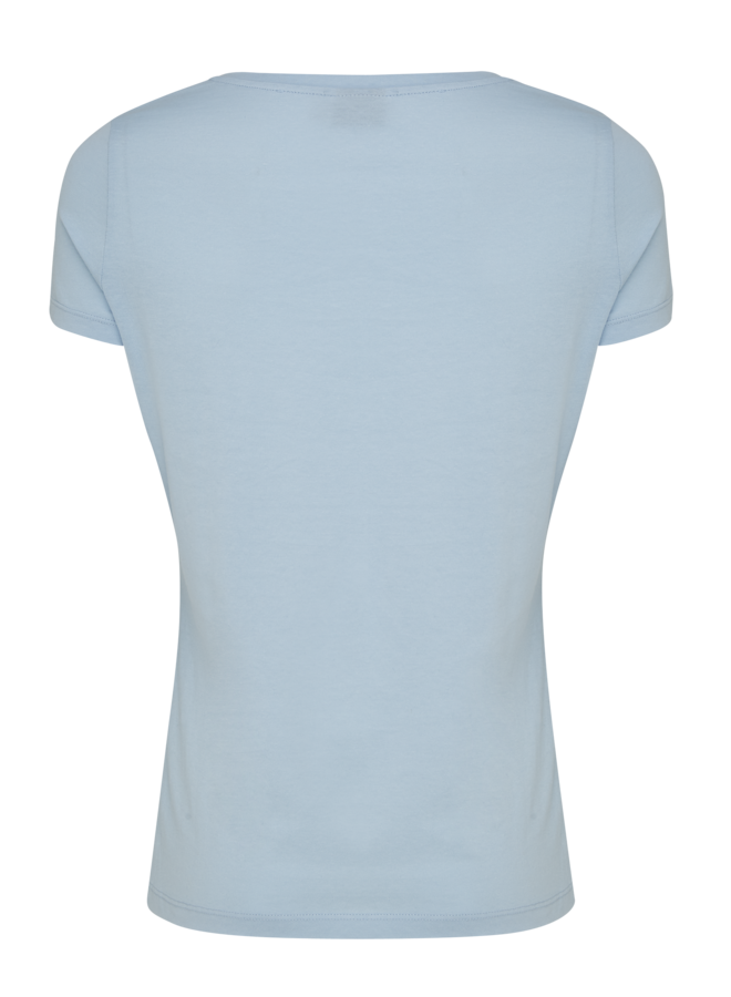 T-shirt casual fit basic blauw