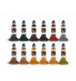 WORLD FAMOUS INK® World Famous Earthtone Ink Set 12 x 30ml