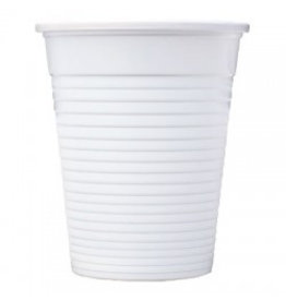 Plastic cups - white 50pcs