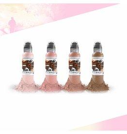 WORLD FAMOUS INK® Maks Kornev's Pink Skintone Set - 1oz - 4x30ml