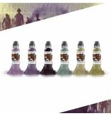 WORLD FAMOUS INK® Maks Kornev's Zombie Color Set - 1oz - 6x30ml