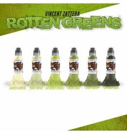WORLD FAMOUS INK® Vincent Zatter's Rotten Green Set - 1oz - 6x30ml