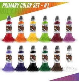WORLD FAMOUS INK® World Famous Primary Color Ink Set #1 12 x 30ml
