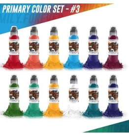 WORLD FAMOUS INK® World Famous Primary Color Ink Set #3 12 x 30ml