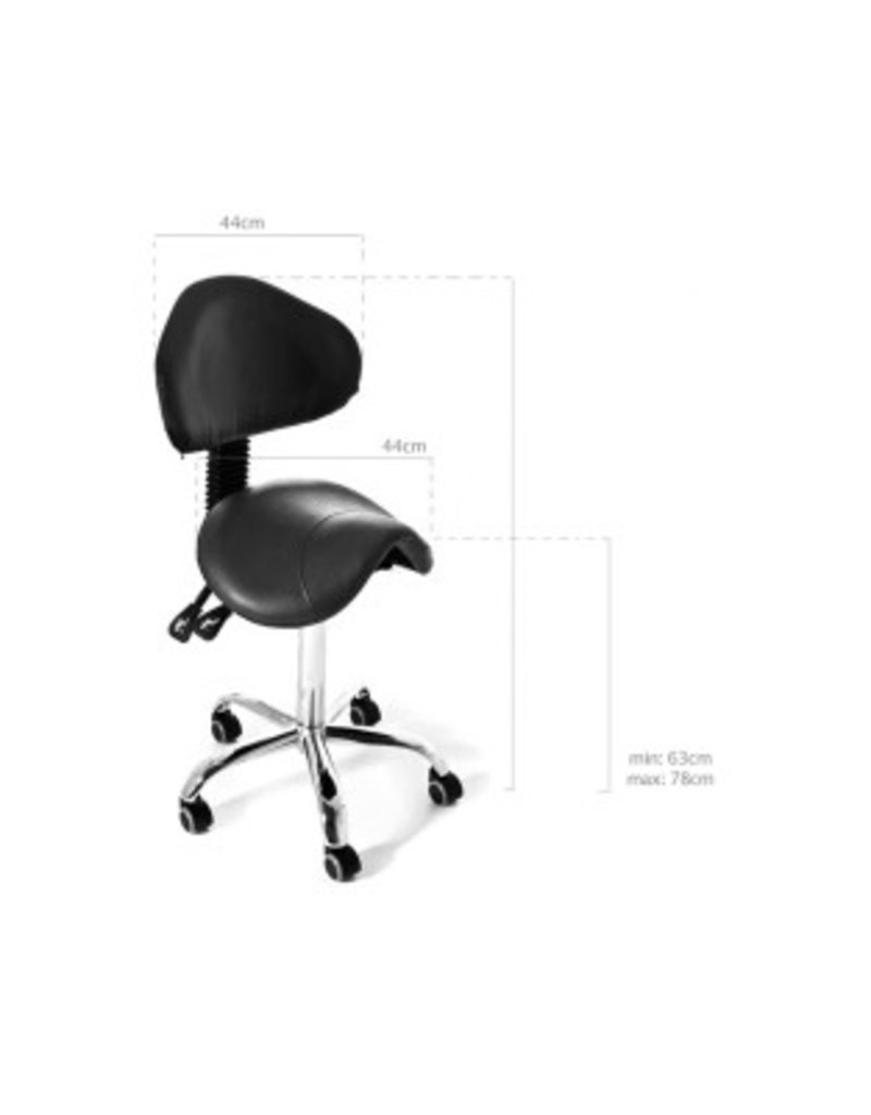Wave Black Chair with Backrest