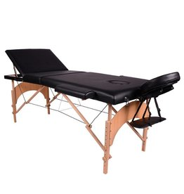 Massage & Tattoo Portable Table - wood