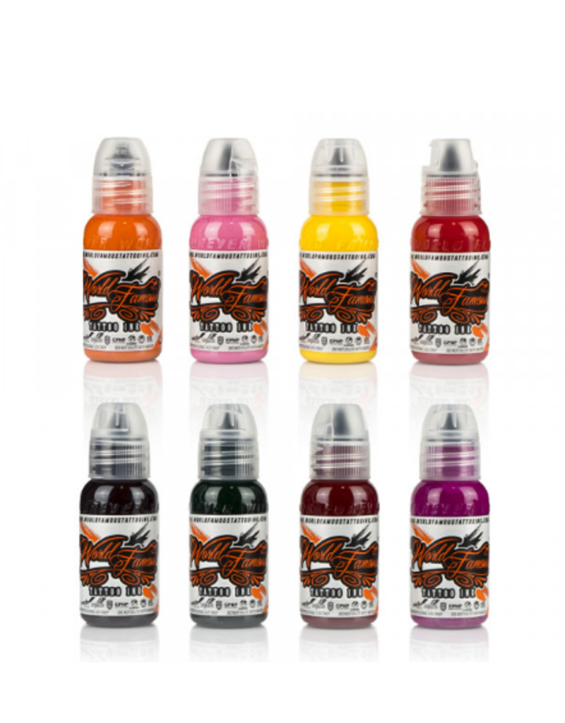 WORLD FAMOUS INK® Ryan Smith - Flower Set 8x30ml