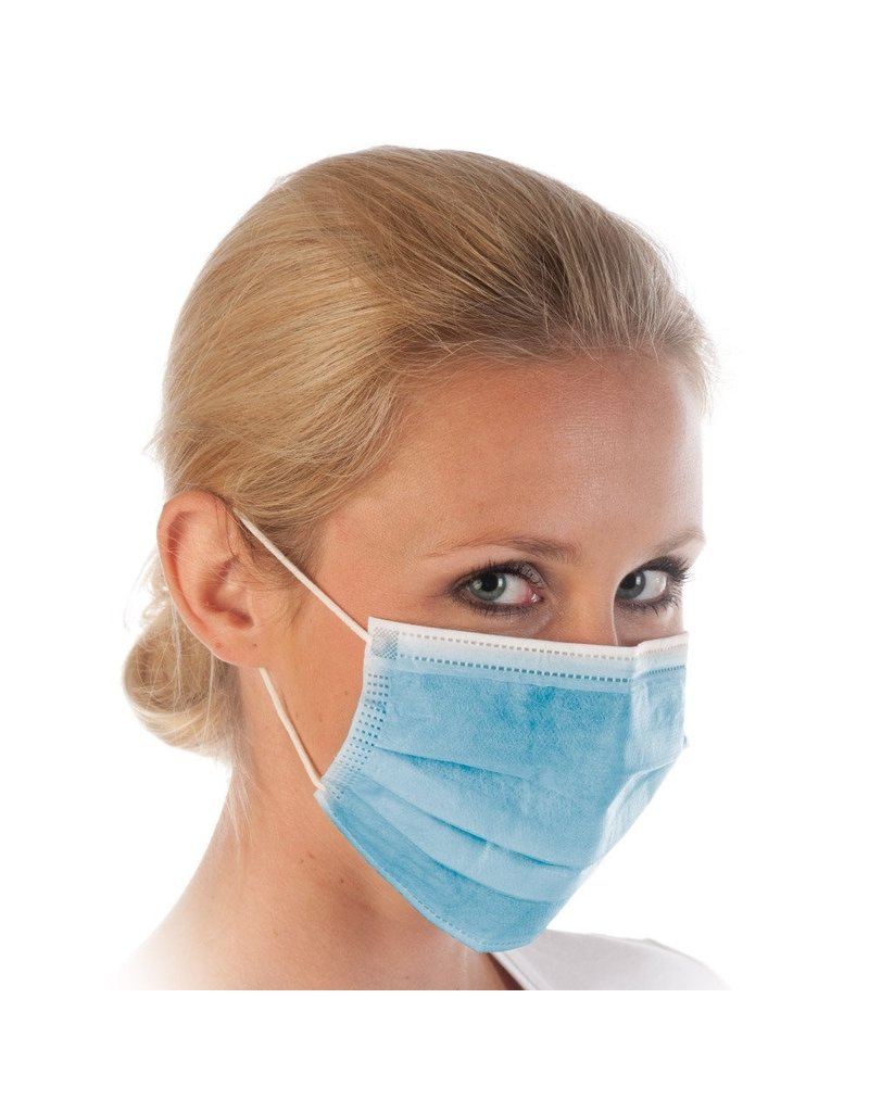 Face Mask 3-ply Type IIR (99%) Blue x 50pcs