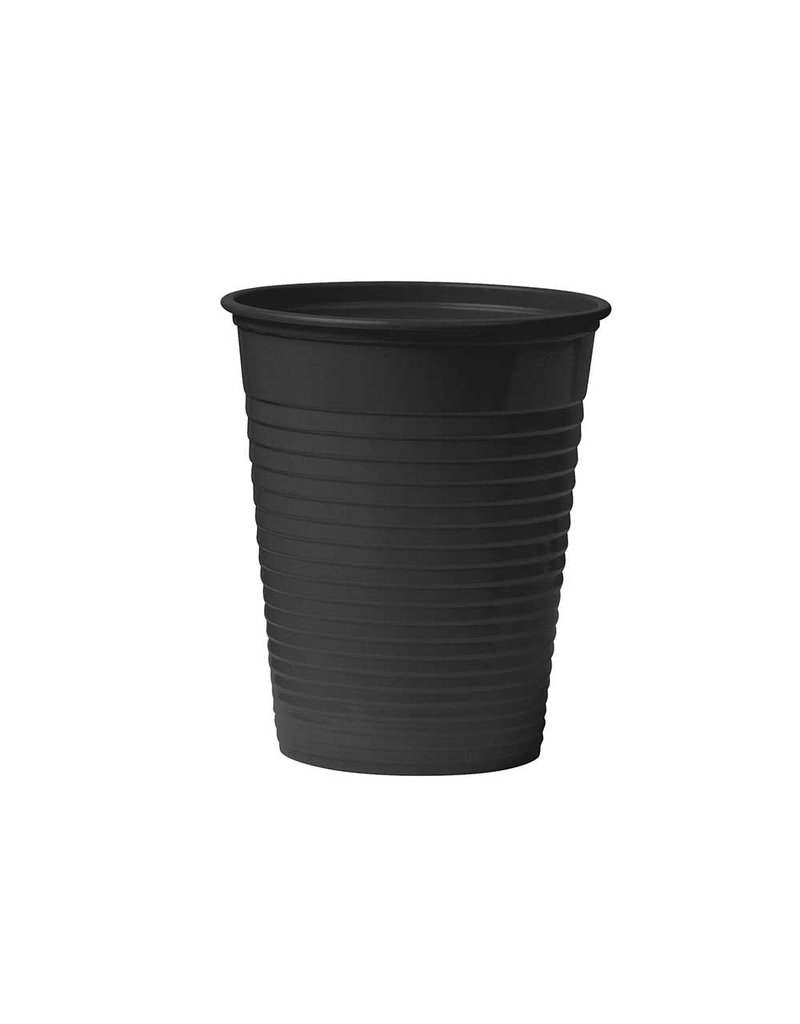 Plastic cups - black 100 pcs