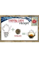 Theebloem van witte thee met een roosje