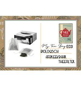 Biologisch afbreekbaar theefilter