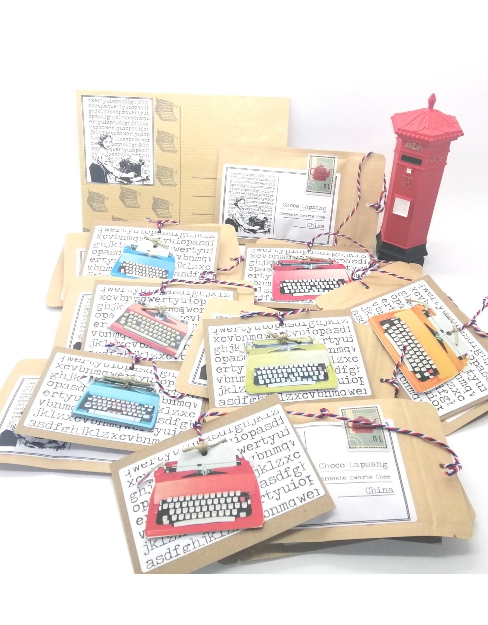 Theepost-wenskaart Typemachine