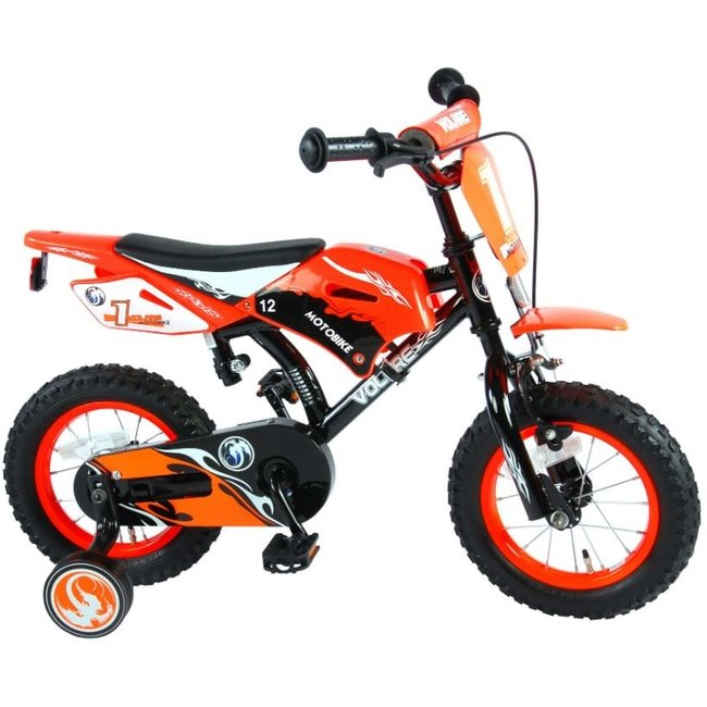 Volare Motorbike Oranje 91214 Jongensfiets Kinderfiets 12 Inch