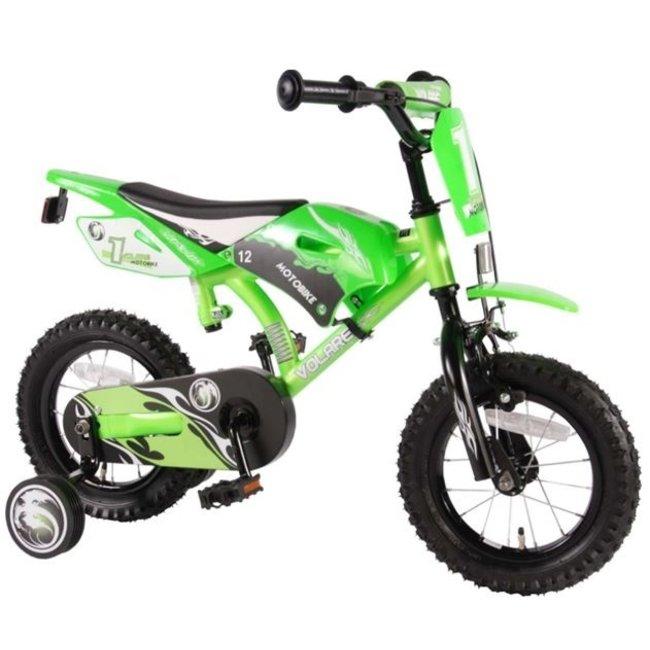 Volare Motorbike Groen 61207 Jongensfiets Kinderfiets 12 Inch