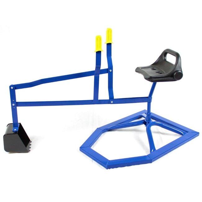 Speelgoed Zandbak Kraantje Blauw Kinder Graafmachine