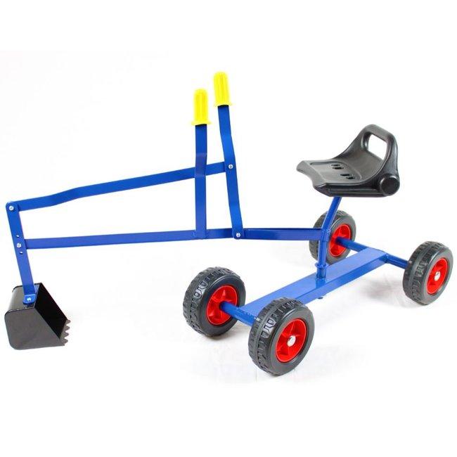 Speelgoed Zandbak Kraantje Blauw Op Wielen Kinder Graafmachine