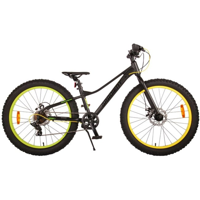 Volare Gradient Zwart Groen Mountainbike 7 Speed 24 Inch 22478