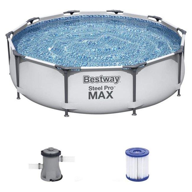 Bestway Zwembad Steel Pro MAX 305 x 76 cm met Filterpomp - 56408 - 58381