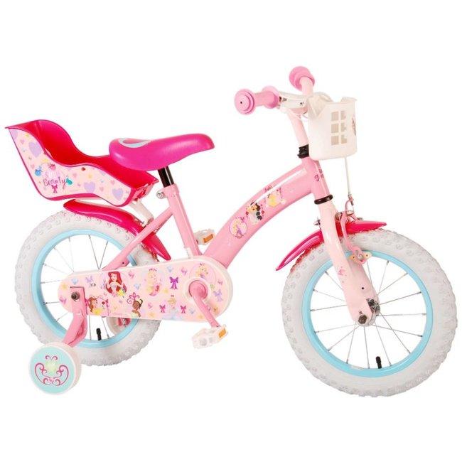 Disney Princess Wit Roze Kinderfiets Meisjesfiets 14 Inch 21409-CH