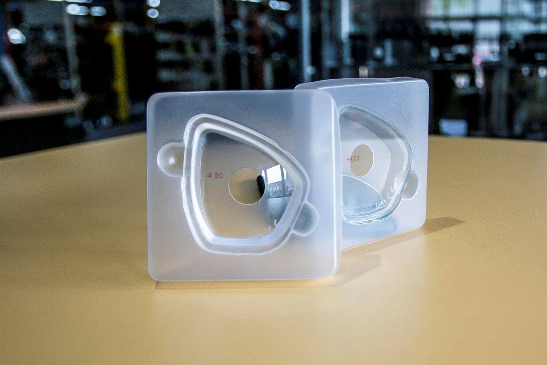 Duikmasker met glazen op sterkte