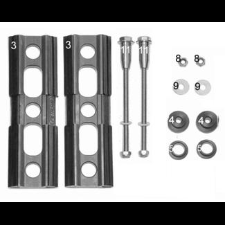 Metalsub Twinningplates Threaded Ends / Nuts