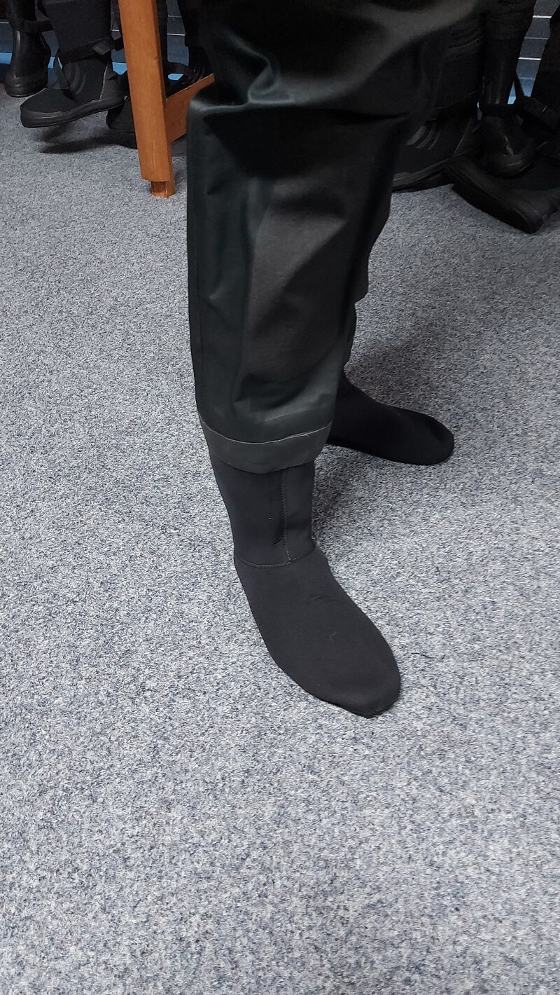 socks with Typhoon spectre dry suit