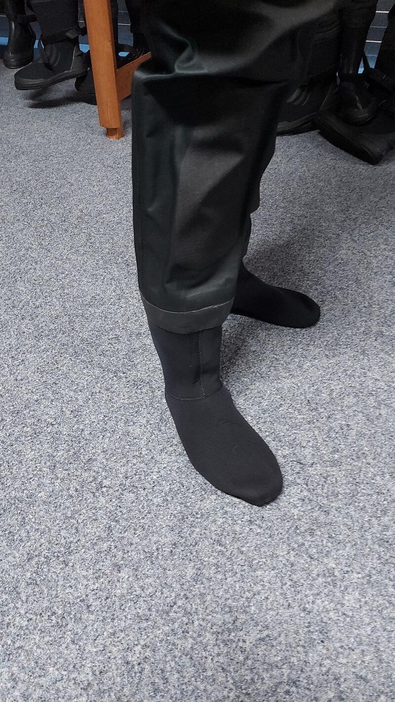 sokken bij Typhoon spectre dry suit
