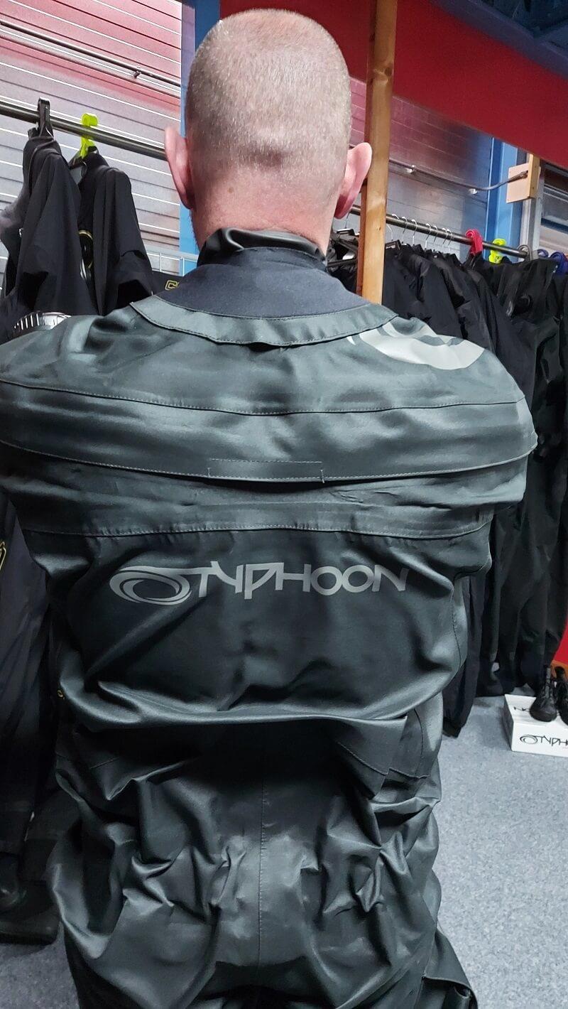 typhoon spectre dry suit back