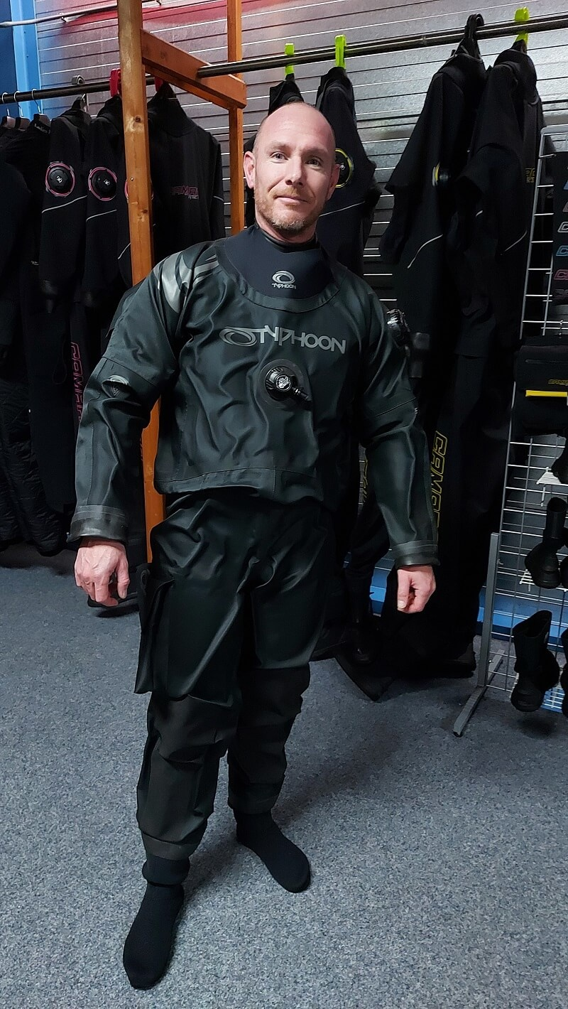 New: Typhoon dry suits