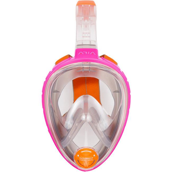 OceanReef Aria Volgelaats Snorkel Masker Roze Maat XS