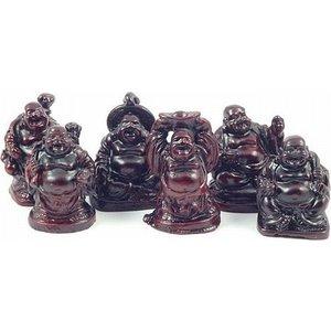Mini boeddha rood
