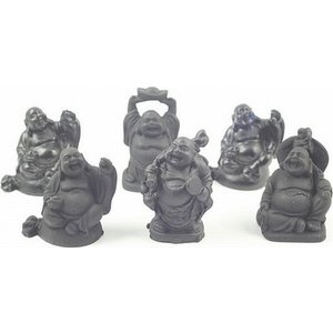 Mini boeddha zwart 5 cm