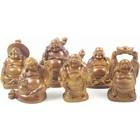 Mini boeddha houtkleurig 5 cm
