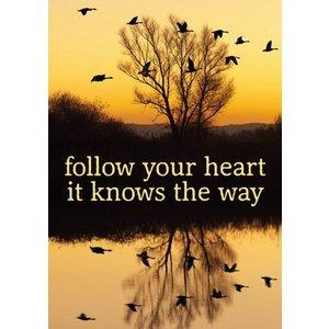 Gelukskaart 'follow your heart'