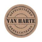 Sticker van harte gefeliciteerd (velletje met 5 stickers)