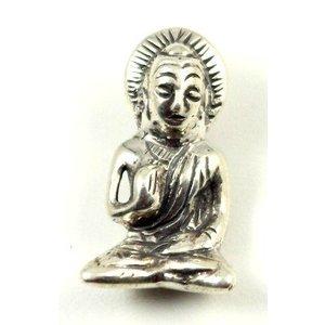 Zilveren hanger boeddha 2,5 cm