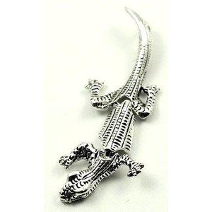 Zilveren hanger gekko