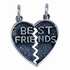Zilveren hanger 2 delen Best Friends
