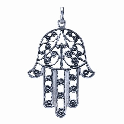 Betekenis Fatima Handje.Zilveren Hanger Handje Van Hamsa 3 Cm