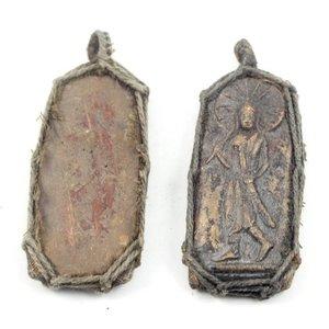 Lang zandsteen touw amulet