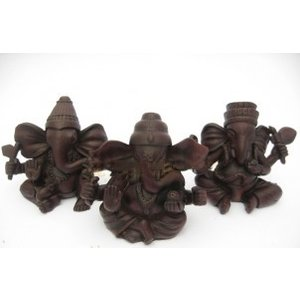 Set van 3 kleine Ganesha beeldjes