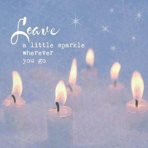 Leave a little sparkle - kaart