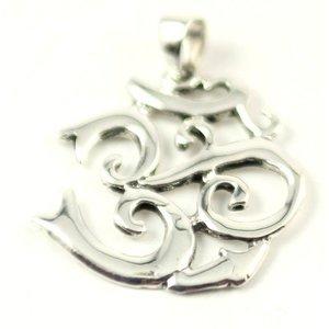 Echt zilveren hanger van het symbool OHM 2,5 cm