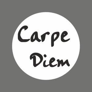 Sticker carpe diem  (pluk de dag) 5 stuks | eenbeetjegeluk.nl