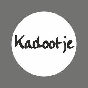 Stickerwit met zwarte letters  kadootje (5 stuks) | eenbeetjegeluk.nl