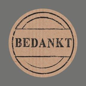 Sticker craft bedankt (5 stuks) | eenbeetjegeluk.nl