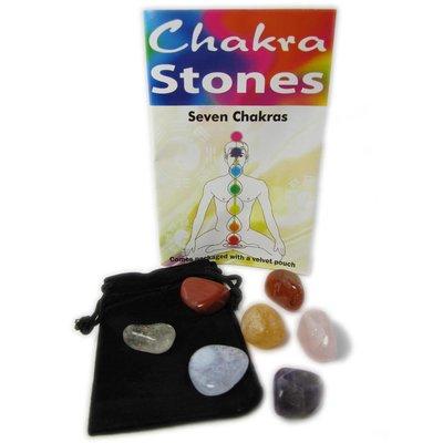 Zakje met chakra stenen